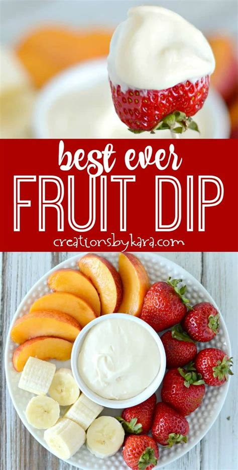 Recipe For The Best Ever Fruit Dip