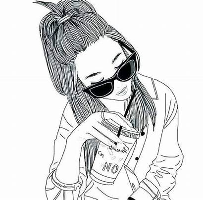 Coloring Cool Teens Hipster Coloringfile Popular Drawing