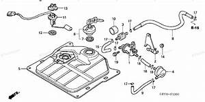 Honda Scooter 2003 Oem Parts Diagram For Fuel Tank