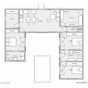 sans couloir plan 10 pieces 114 m2 dessine par docmicro With forum plan de maison 11 loft 88