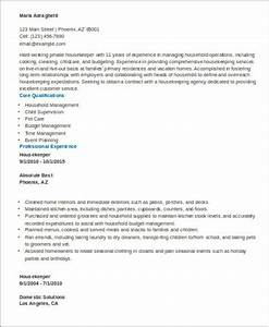 Resume For Human Resource Manager Sample Housekeeper Resume 8 Examples In Word Pdf