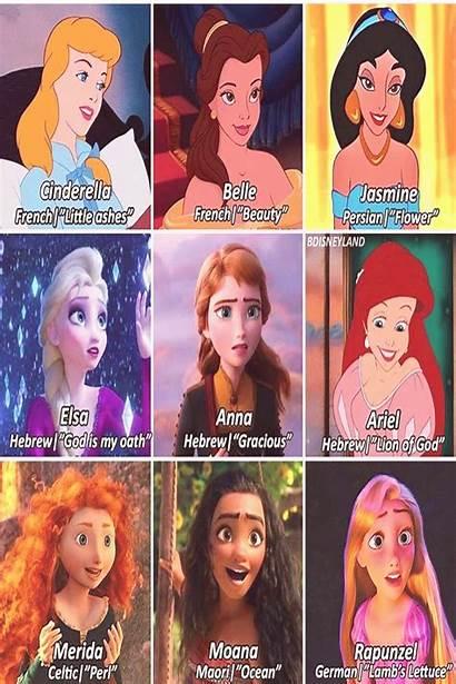 Disney Princess Names Character March Princesses Princes