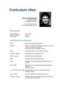 curriculum vitae application resume template