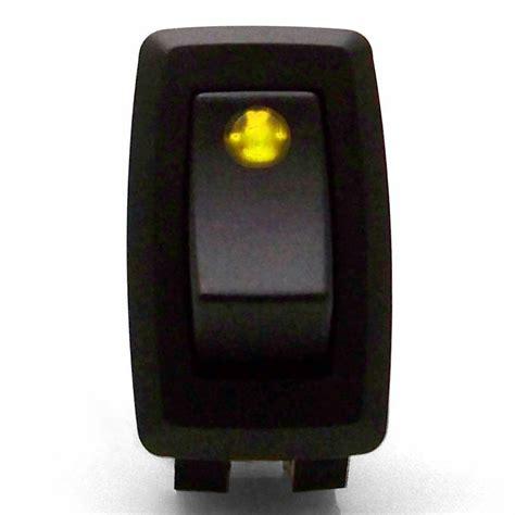 Illuminated Rocker Switch With Led Yellow Vdc Ebay