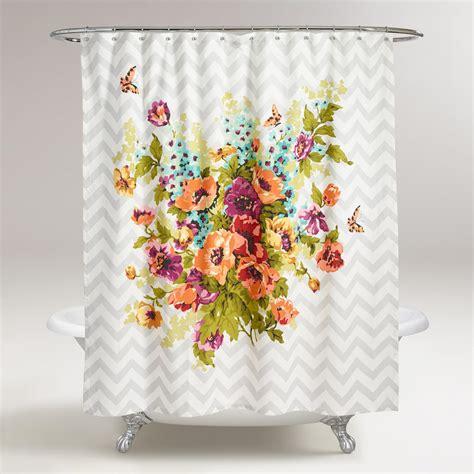 shower curtains world market floribunda shower curtain world market