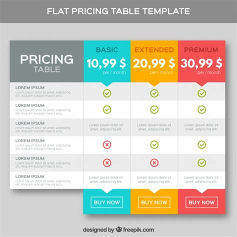 pricing template pricing tables template in flat design vector premium
