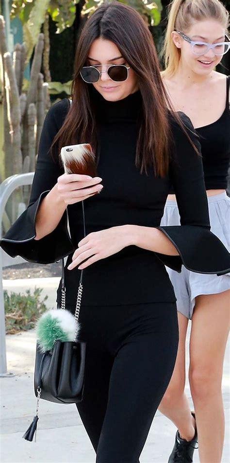 kendall jenner  purse blog saint laurent monogram bourse mini bucket bag fall street style