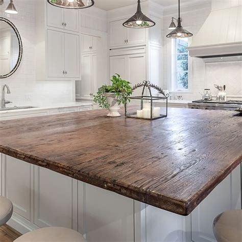 our favorite reclaimed wood counter tops for kitchen bars