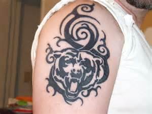 Angry Tribal Bear Tattoo Designs