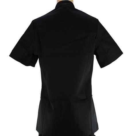 veste de cuisine noir veste de cuisine pour femme manches courtes