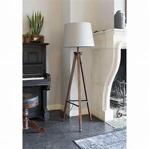 Lampadaire Bois Et Blanc : lampadaire bois et coton rif par ~ Dailycaller-alerts.com Idées de Décoration