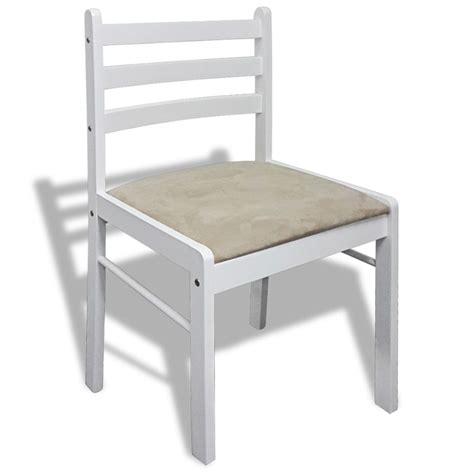 lot de 6 chaises en bois acheter lot de 6 chaises de salle à manger en bois carrée blanche pas cher vidaxl fr