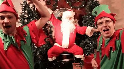 Santa Claus Gifs Christmas Party Elves Funny