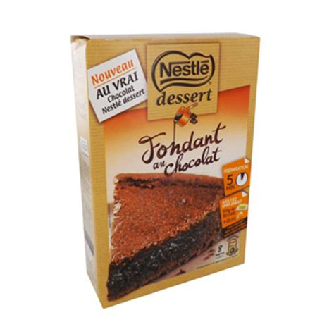 preparation pour fondant au chocolat nestle 317g simply market