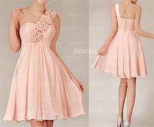 blush bridesmaid dresses, one shoulder bridesmaid dresses ...