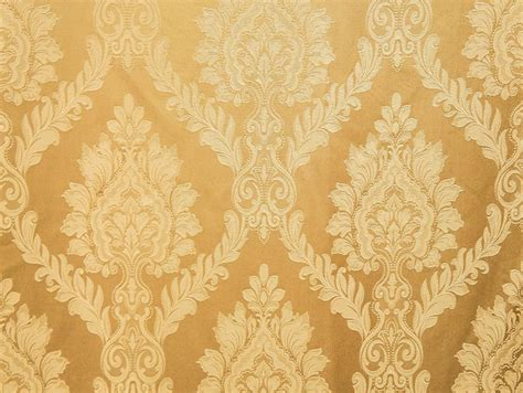 castleford 101 gold damask jacquard drapery fabric by the yard