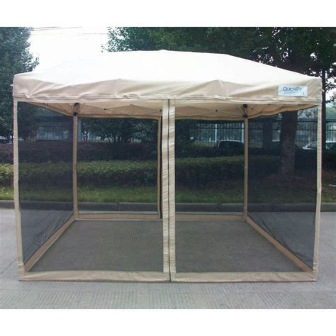 quictent  ez pop  gazebo party tent canopy mesh screen  carry bag ebay
