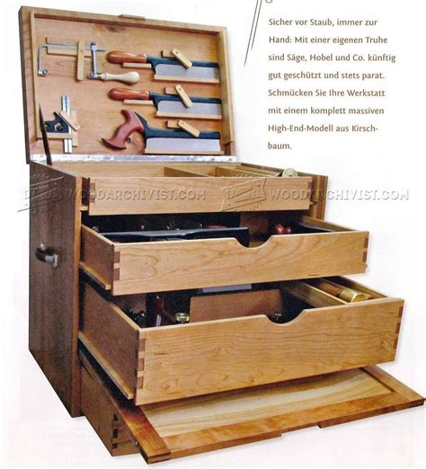 woodworking tool chest plans woodarchivist