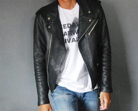 jual beli jaket kulit rock  roll ramones changcuters