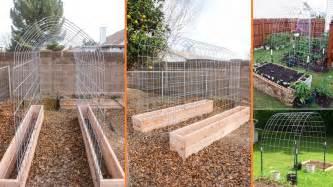diy raised garden box with trellis beesdiy
