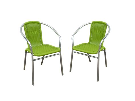 chaise de jardin en résine tressée lot de 2 chaises jardin aluminium résine tressée diabolo