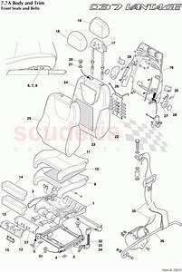 Aston Martin Db7 Vantage Front Seats And Belts Parts