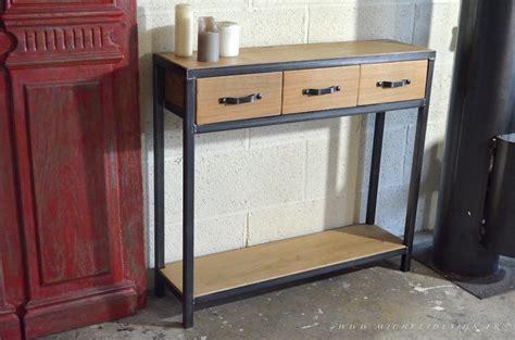 des bureaux en bois table console de style industriel micheli design
