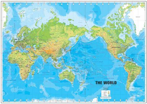 Ģeogrāfiskā karte - Pasaule - 7,874 x 5,605 Pikselis - 4 ...