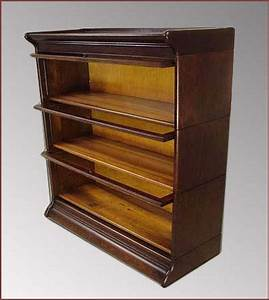Antique Barrister Bookcases ANTIQUE GUNN LEADED 2
