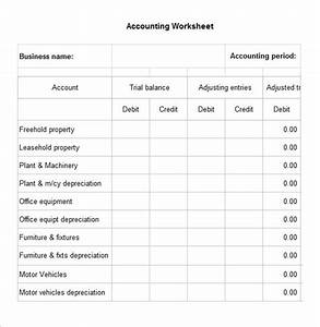 Trial Balance Worksheet 5 Accounting Worksheet Templates Free Excel Documents