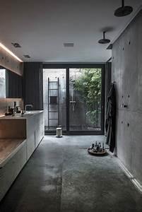 Beton Hydrofuge Pour Salle De Bain : salle de bain b ton cir tendance pour donner nouveau ~ Edinachiropracticcenter.com Idées de Décoration