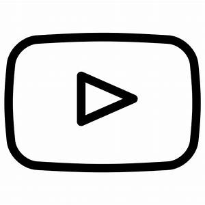 youtube Outline Icon