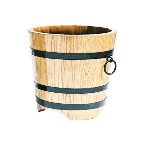 bac rond en bois naturel