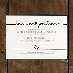 Scribble handwriting wedding invitation set on luxury card for Modern luxury wedding invitations uk