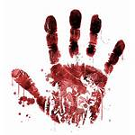 Horror Zombie Handprint Transparent Background Vector Icons
