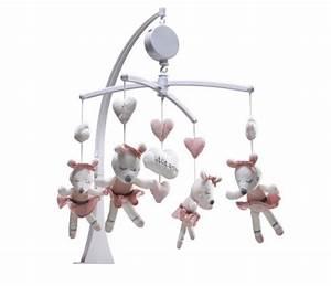 Mobile Lit Bébé Fille : mobile musical b b fille lilibelle avec souris qui dansent sauthon ~ Teatrodelosmanantiales.com Idées de Décoration