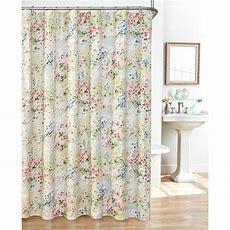 Giverny Fabric Plisse Shower Curtain Set Ebay