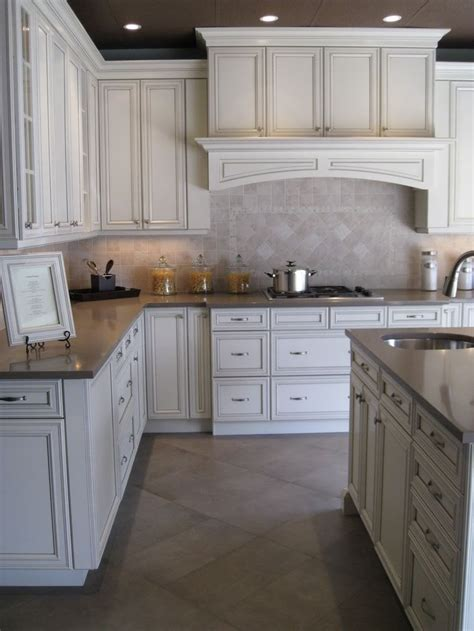 kitchen cabinets antique white glaze antique white with pewter glaze for the home 7996