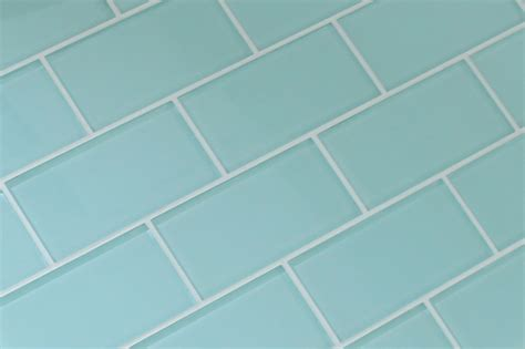 seafoam 3x6 glass subway tiles rocky point tile glass