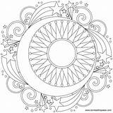 Moon Coloring Phases Pages Printable Phase Calendar March Getcolorings sketch template