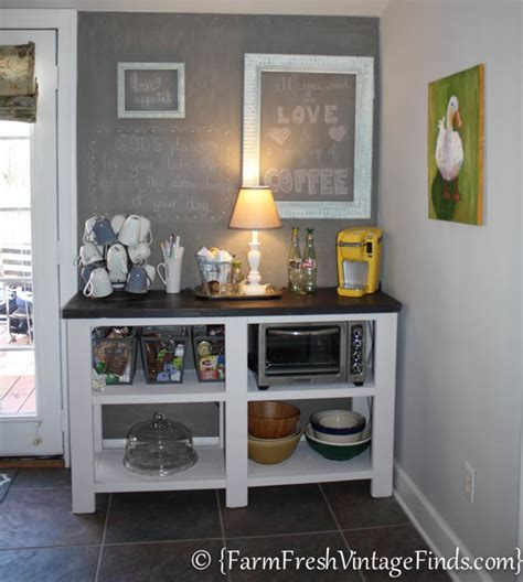 coffee bar inspired by ana white diy how to painted