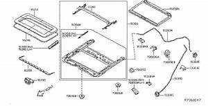Infiniti Jx35 Sunroof Guide Rail  Panoramic