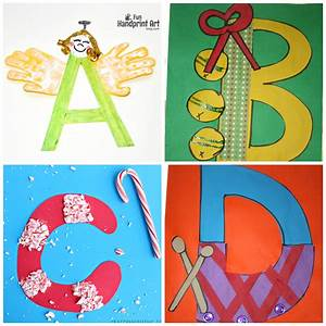 winter christmas alphabet crafts for kids crafty morning With arts and crafts letters of the alphabet