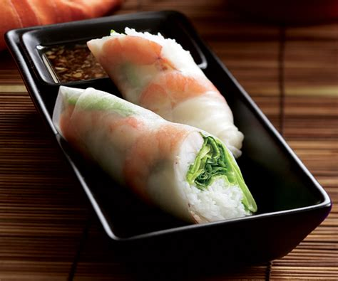 shrimp summer rolls recipe finecooking