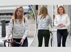 On yer bike! Rachel Riley flaunts pert derriere as she