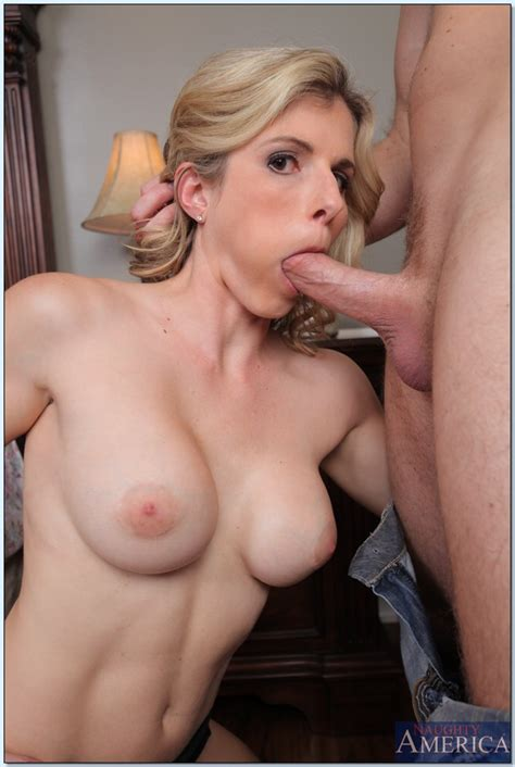 Stunning Blond Woman Cory Chase Gagging And Boned Milf Fox