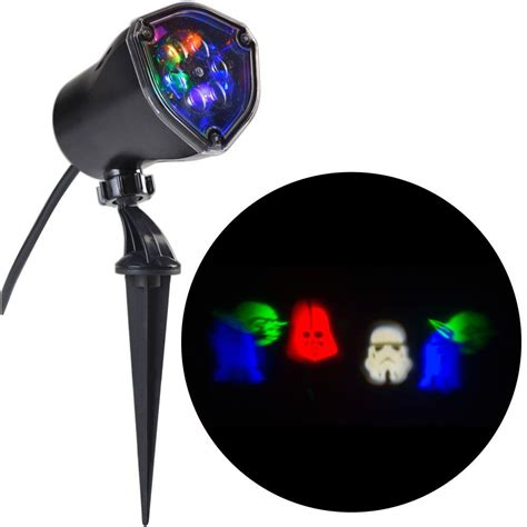 lightshow led lightshow led projection wars characters wars rgbw stake light 81846 the home depot