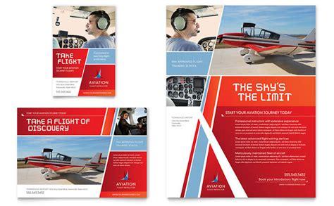 aviation flight instructor flyer ad template design
