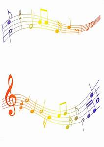 Coloured Musical Notes Border by KirstyLouiseWilson ...