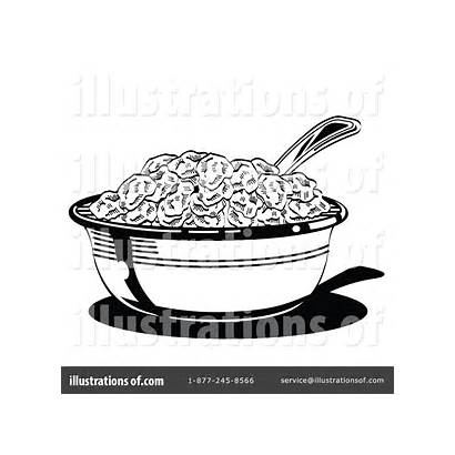 Cereal Bowl Illustration Clipart Coloring Sheet Template